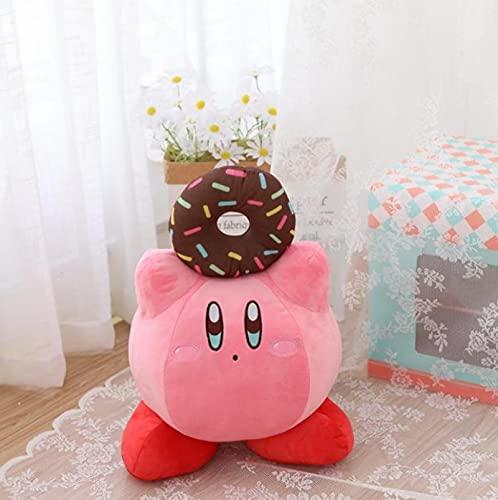 Levanta El Donut Kirby Muñeco De Peluche, Dibujos Animados Anime Juguetes Blandos Lindo Abrazo, Muñecos De Peluche, para Niños Niñas Regalo De Cumpleaños, 45Cm