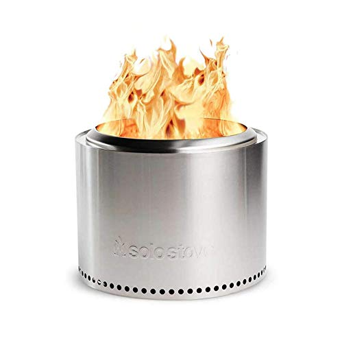 Solo Stove Bonfire Fire Pit - Smokeless Large 19.5 Inch Stainless Steel Outdoor Firepit | Portable Backyard Natural Wood Burning Firebowl | No Gas or Propane Required