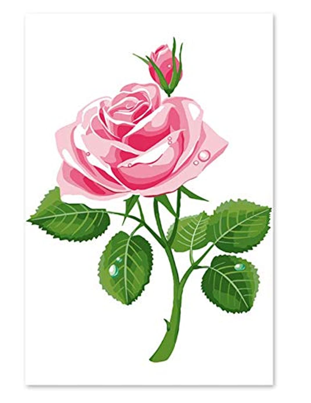 kkxka No Frame Painting by Numbers Art Paint by Number Digital Painting Rose Love China Classical Hand Coloring Background Decorative Wall Pain niq8376280