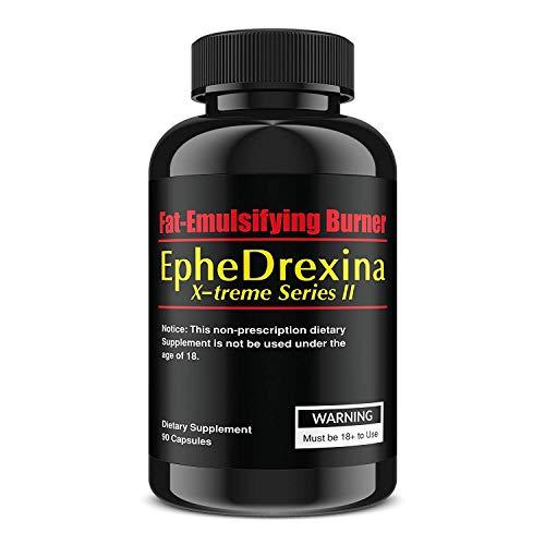 EpheDrexina X-treme Series II, 90 Kapseln, Hochdosierter Fatburner für 30 Tage, Das Original zur Unterstützung der Gewichtsreduktion, natürlich und sicher