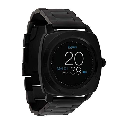 X-WATCH 54026 NARA XW Pro Premium Herren Smartwatch, Apple iOS und Android kompatibel Bc Dark steel