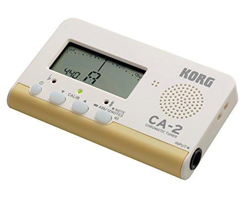 KORGクロマチックチューナーCA-2吹奏楽ブラスバンドオーケストラギター声楽アカペラ個人練習に最適200時間連続稼働軽量コンパクト