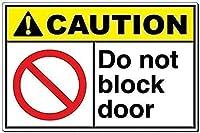 2個 注意ドアを塞がないでくださいブリキの看板金属板装飾看板家の装飾プラーク看板地下鉄金属板8x12インチ メタルプレートブリキ 看板 2枚セットアンティークレトロ