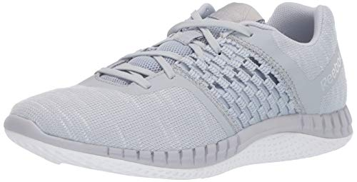 Reebok Men's Print Run DIST Sneaker, Cloud Grey/White, 10 M US