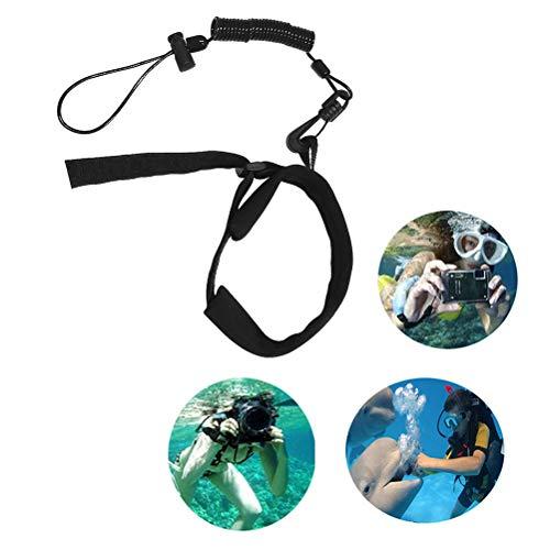 Cable Espiral con Ganchos Cordón De Buceo para Adultos Cordón Subacuático Cámara De Antorcha De Buceo Cámara Anti Pérdida
