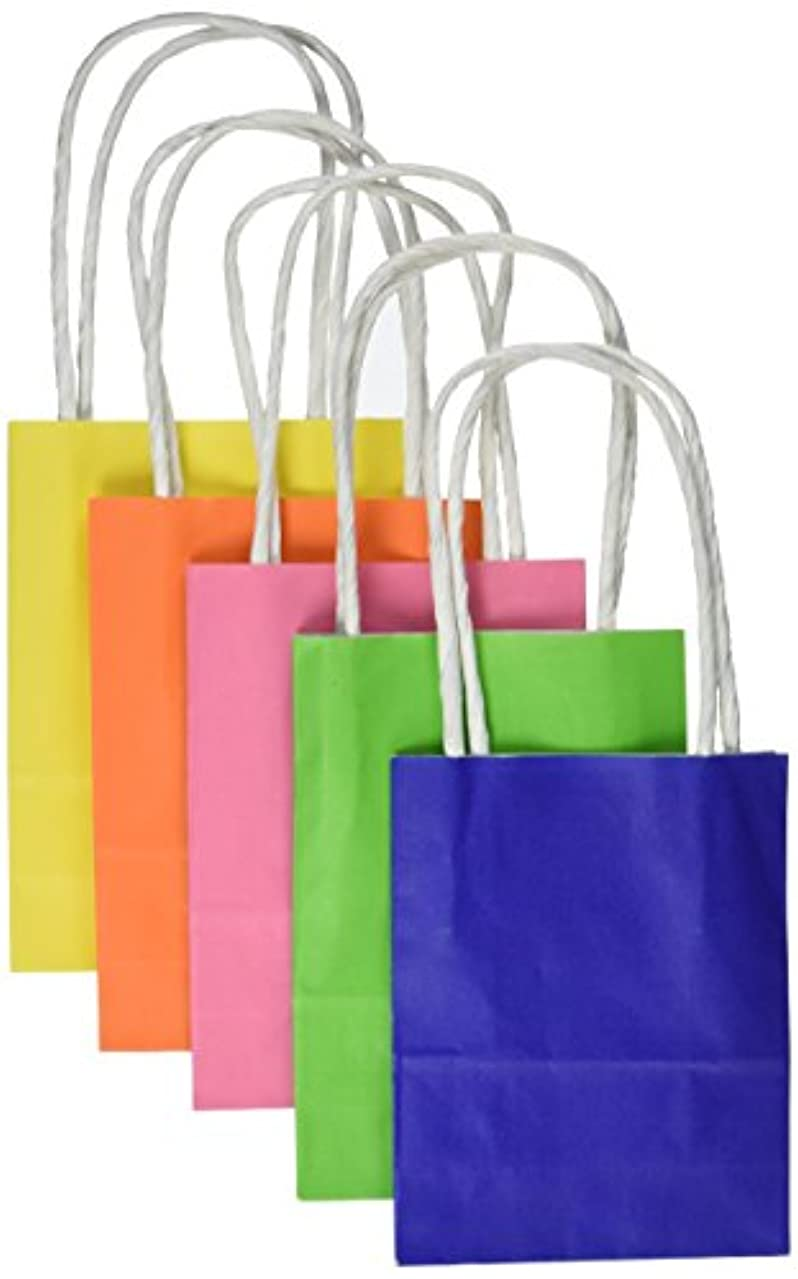 Darice BAG241 5Piece, Primary Color Paper Bags, 2 by 3.875 by 5.125 inch