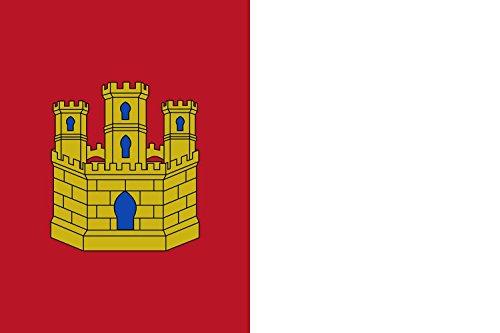 magFlags Bandera Large+ Castilla-LaMancha | Bandera Paisaje | 1.5m² | 100x150cm