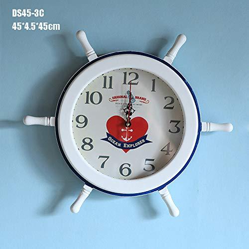 FFDGHB Reloj De Pared, Reloj De Pared MediterráNeo, DecoracióN Artesanal, Reloj De PéNdulo Digital, Familia, DecoracióN De Dormitorio 59 * 5.9 * 59Cm