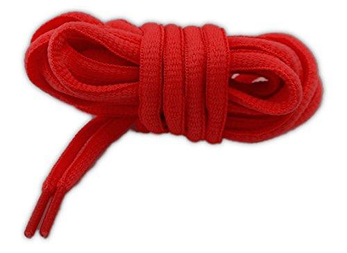 NEON Lacci sportivi ovali 100% poliestere, 5mm * 125cm (rosso)