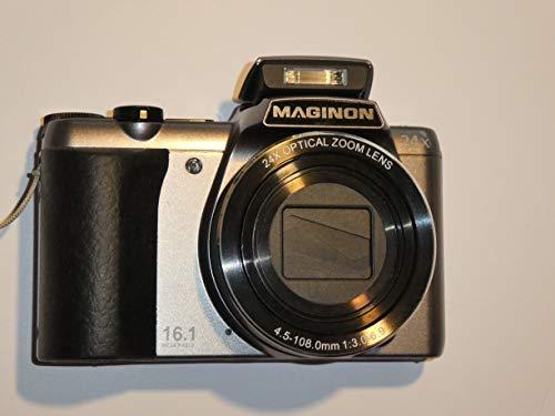 Maginon - Cámara digital (zoom óptico de 24 aumentos, 16 megapíxeles, objetivo SZ24 de 4,5-108 mm)