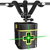 Nivel Láser Verde Nivelador Cruzado con Autonivelante Doble Láser Módulo Líneasle Horizontal/Vertical Mini Ajustable Tripode Alta precisión obra niveles nivelador AA bateria (No incluido)