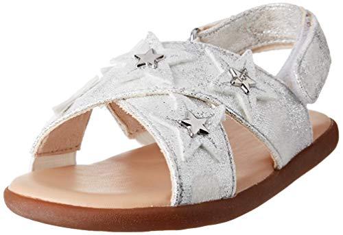 UGG Baby-Mädchen Allairey Stars Sandale, Silber, 20.5 EU
