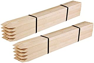 Greenes Fence 3 Ft. Wooden Garden and Sign Post Stakes (50-Pack)