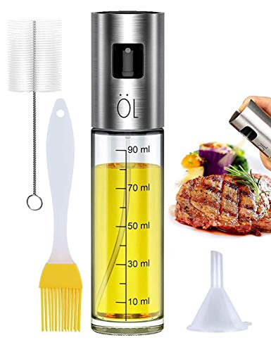 Pulverizador Spray Oliva Aceite, Premium 304 Acero Inoxidabl