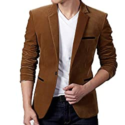 CATSAP Mens Suit Jacket One Button Blazer Slim Fit Sport Coat Business Daily Notched Lapel