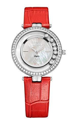 North King Quarz Uhren Datumsanzeige Frauen Watch Strass Fashion Damen Gürtel Quarz Uhr schöne Uhren für Erwachsene Geburtstag GIF T