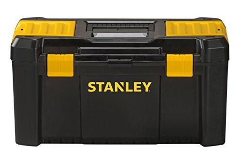 Stanley Kunststoff-Werkzeugbox/kasten (19 Zoll, mit Kunststoff-Schliessen und Organizern, entnehmbarer Trage) STST1-75520