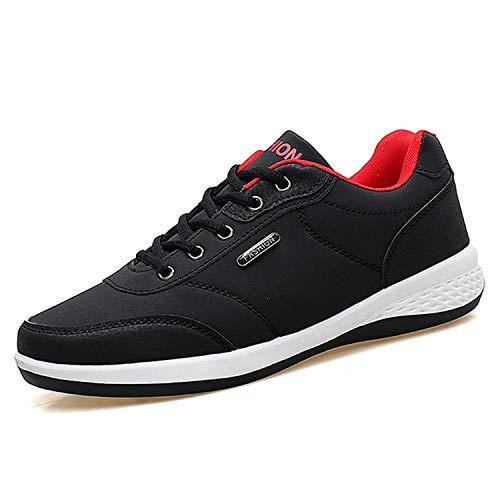[Sanguine] スニーカー メンズ 防水 カジュアルシューズ カジュアルスニーカー ウォーキングシューズ 軽量 通学靴 ビジネス ランニング ブラック 25.5cm
