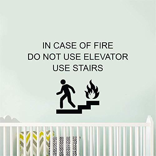 Lisuis Wandtattoo Sprüche abnehmbarer Schriftzug im Falle von Feuerstelle Treppe 16 * 11.4inches