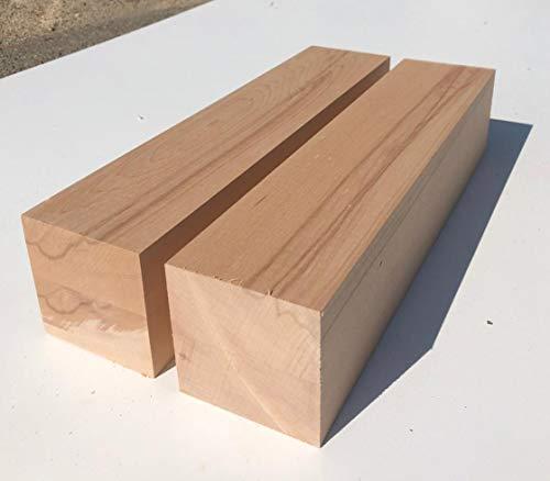 2 Tischfüße Kanthölzer Kernbuche massiv, drechseln. Maße : 90x90mm stark. Hobelware. (90x90x100mm lang.)