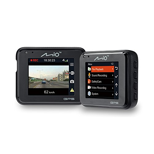 Mio MIVUEC330- Full HD 1080p In Car Dash Cam and DVR with GPS and Speed Camera Detection