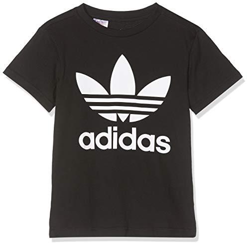 adidas Trefoil Tee, T-Shirts Unisex Bambini, Black/White, 11-12A