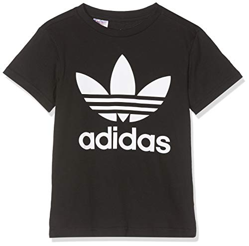 adidas Trefoil Tee, T-Shirts Unisex Bambini, Black/White, 12-13A