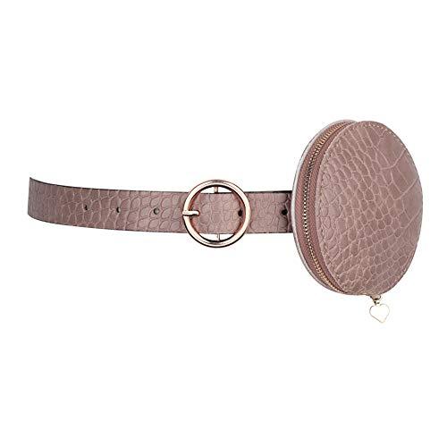 YSDNI Riñonera decorada con cinturón de cuero para mujer, para suéter con falda y falda, cierre de cintura de moda, A4