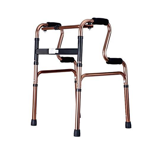 CHenXy Faltbarer Schwerlastwanderer, Transportstuhlhilfe, die mit Rädern mit Sitz for ältere Wanderer geht, die bis 418 Pfund stützen medizinische Walker (Color : B)