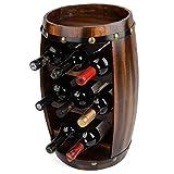 Holzfass Weinregal 8 Flasche Halter 50cm Christow