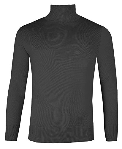 Brody & Co. Heren Roll Necks Polo Neck Jumpers Fijne Gebreide Truien Plain Ski Golf Tops
