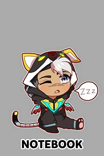 Chibi Voltron Onesie- Shiro W White Hair Notebook: (110 Pages, Lined, 6 x...