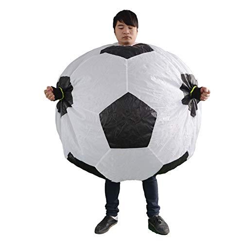 LINAG Halloween Aufblasbares Kostüm für Erwachsene, Aufblasbare Fußball Kleidung für Party Geschenk Cosplay Party Kostüm, Fasching Karneval Kostüm,A,OneSize