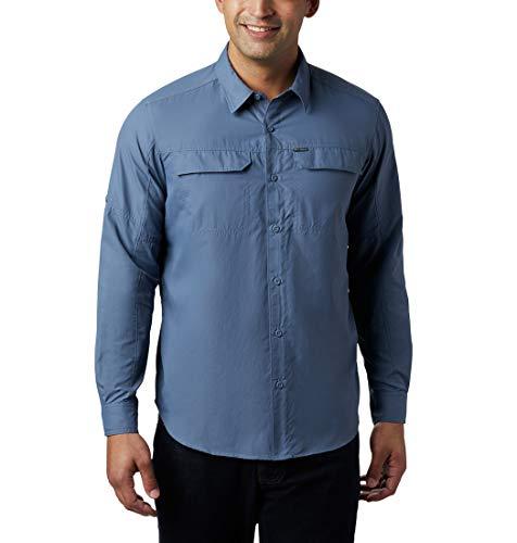 Columbia Silver Ridge 2.0 Camisa de Manga Larga, Hombre, Azul (Mountain), M