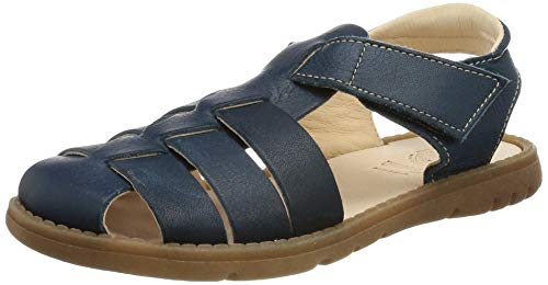 Pololo Fiesta Grande Flat Sandal, blau, 33 EU