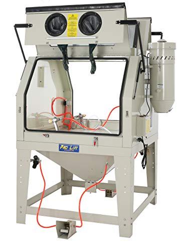 Pro-Lift-Werkzeuge Sandstrahlgerät 1200 l Sandstrahlkabine Sandstrahler zwei große Frontklappen 1200 Liter Industriestrahler Arbeitsplatz