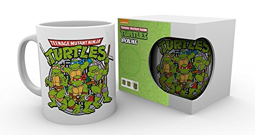 GB Eye Teenage Mutant Ninja Turtles, Retro Logo Becher, Mehrfarbig
