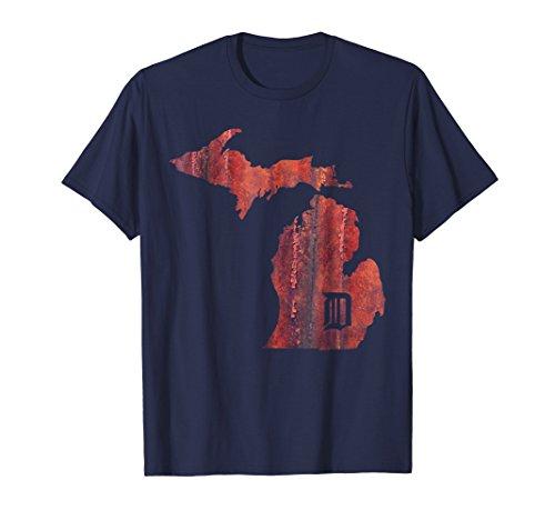 Mens Detroit Michigan Red Rust - Motor City