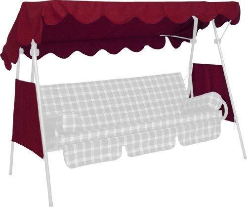 Angerer Toit balancelle 200 x 120 cm, qualité Swingtex, Couleur Bordeaux