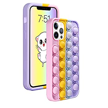 Neeliup for iPhone 6/6s/7/8/SE 2020 case - Pop Cute Cartoon Kawaii Funny it Girls Kids Boys Case with Anti-Anxiety Push Bubble Silicone Protecive for for iPhone 6/6s/7/8/SE 2020 case