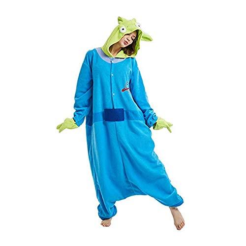 FINDPITAYA Disfraz Historia Juguete Alien Adultos Cosplay Pijamas (L)