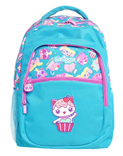 Smiggle Backpack 'Says' Classic Junior (Pink & Blue Cupcake Kitty)