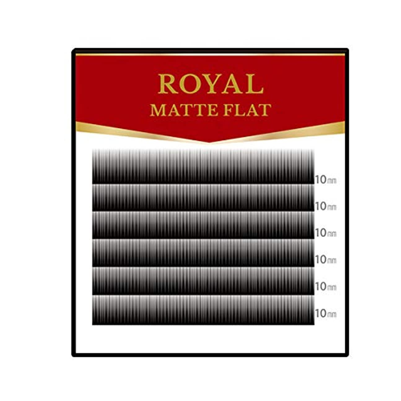 必要条件モッキンバードハウスまつげエクステ マツエク ロイヤル マットフラット(2又)(6列) (Jカール 0.15mm 10mm)