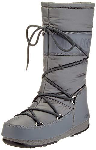 Moon-boot High Nylon WP, Bottes de Neige Femme, Gris (Grigio 006), 35 EU