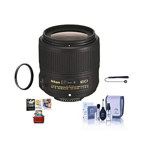 Nikon 35mm f/1.8G AF-S ED NIKKOR Lens Bundle w/58mm Filters & Pro Software 58mm UV Filter