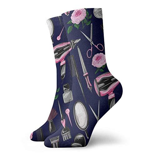 Preisvergleich Produktbild Tammy Jear Unisex Socken Friseur Pink Tools Mode Neuheit Trockensportsocken