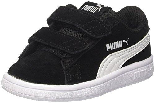 Puma Unisex-Kinder Smash v2 SD V Inf Sneaker, Schwarz Black White, 33 EU