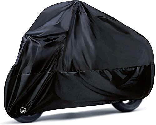 Funda para Motocicleta, Orangeone 190T Fundas para Moto Impermeables con Orificios de Bloqueo, Fundas de Protección contra la Lluvia y Los Rayos UV con Bolsa de Almacenamiento, 245 X 105 X 125 cm