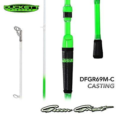 Duckett Fishing - Green Ghost 1pc Bass Fishing Rod