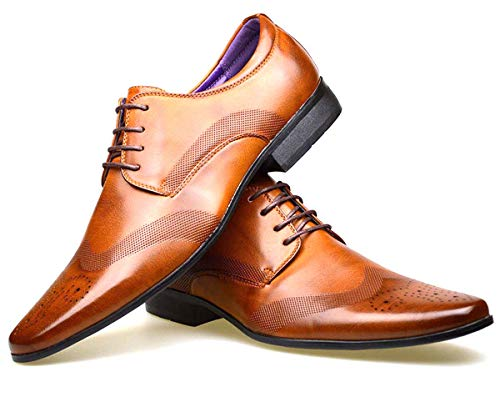 S & B Footwear Mens Leather Lined Smart Wedding Lace Up Brogues Formal...